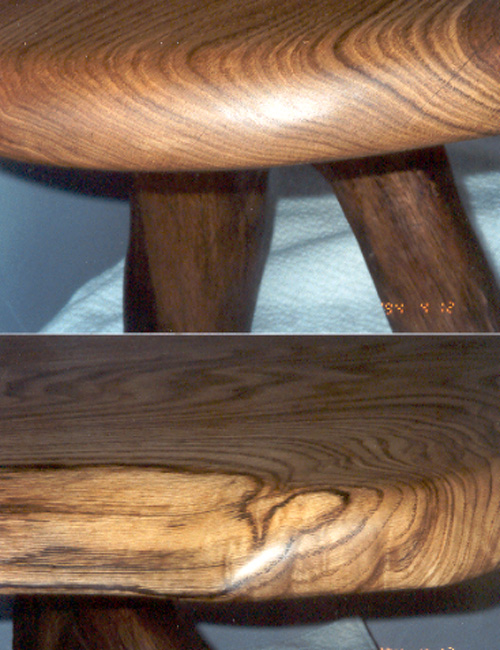 Walking oak coffee table