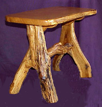 Features Spalted Burr Oak legs. Finely finished.