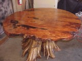 Rare & unique - solid burl - one piece top - conference table in progress.